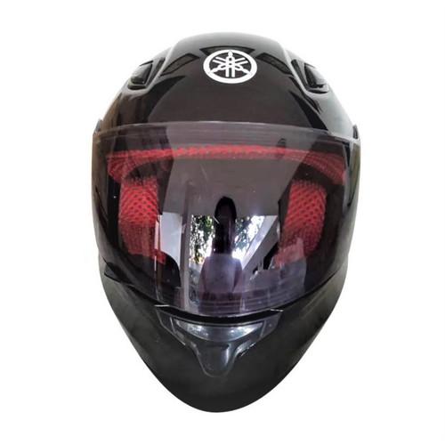 Foto Produk Yamaha ORI SNI Full Face Helm Helmet MURAH - HITAM BLACK dari Satu Hati Nusantara