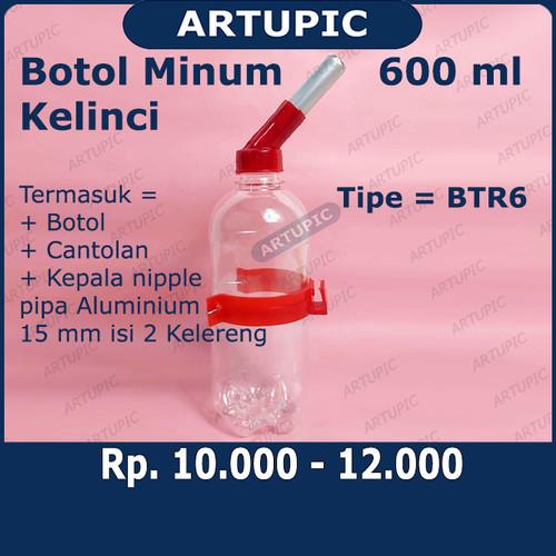 Foto Produk Botol Minum Kelinci 600 ml BTR6 Tempat Minum Kelinci Hamster Marmut dari ArtupicPeralatanPeternak
