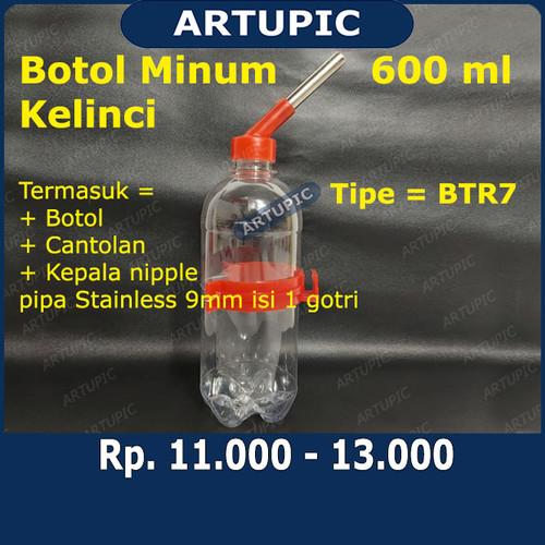 Foto Produk Botol Minum Kelinci 600 ml BTR7 Dot Tempat Minum Kelinci Hamster Murah dari ArtupicPeralatanPeternak