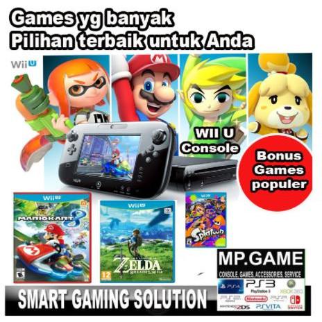 Foto Produk NIntendo WIIU/ Wii-U/WII--U 500GB Full Games - KOMPLIT 2GAMES dari MPGAME
