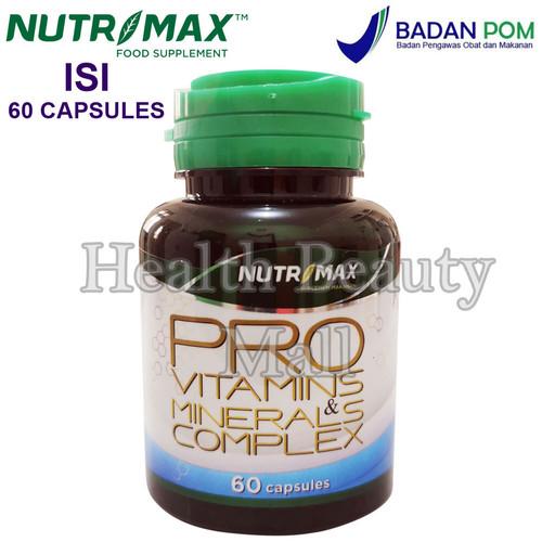 Foto Produk Nutrimax Pro Vitamins & Minerals Complex 60 Caps - Coral Calcium dari Health Beauty Mall