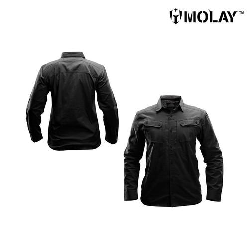 Foto Produk Kemeja Molay™ Advanced Striker Shirt Mk III - Black, L dari Molay