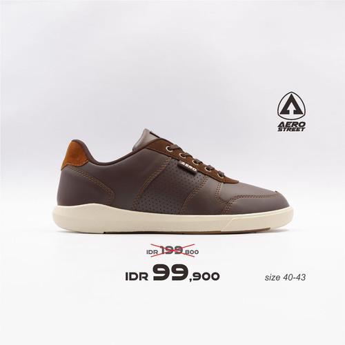 Foto Produk Aerostreet 40-43 Evander Coklat Tua - Sepatu Sneakers Casual Pria - 40 dari Aerostreet