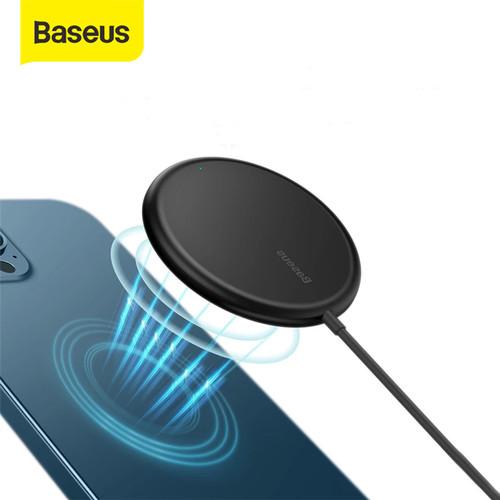 Foto Produk WIRELESS CHARGER PAD BASEUS APPLE MAGSAFE CHARGER IPHONE 12 - Hitam dari Baseus Official Store