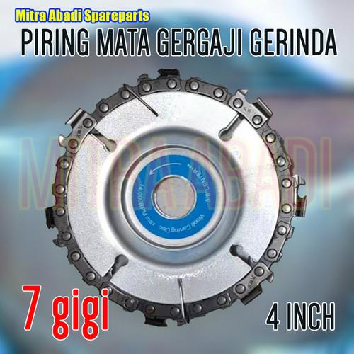 "Foto Produk Piring Mata Gergaji Gerinda / Gurinda 4"" / 4 INCH - 7 GIGI dari Mitra Abadi Spareparts"