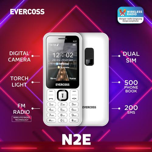 Foto Produk Hp Evercoss N2E Candy Bar Feature Phone - Resmi - Hitam dari ACS