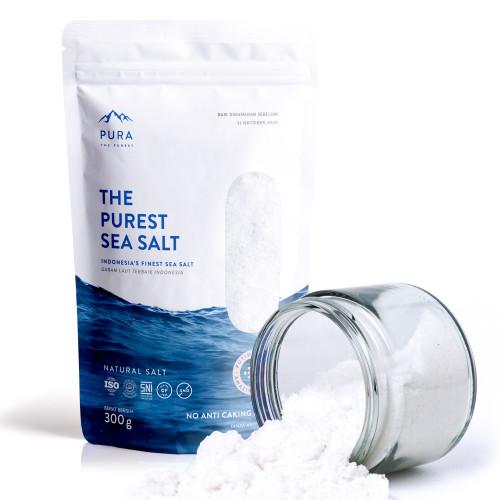 Foto Produk PURA PUREST SEA SALT 300 GR - GARAM LAUT NATURAL (FINE / HALUS) dari PURA INDONESIA