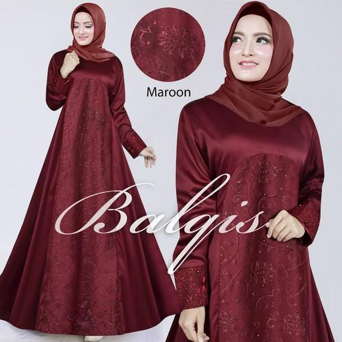 Foto Produk gamis pesta muslim balqis 3 warna gamis cantik muslim original dari galery bundayarti