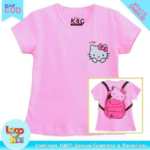 Foto Produk Kaos Anak Perempuan Lengan Pendek Logokids Hello Kitty Bag 1-10 Tahun - 1 tahun dari logokids