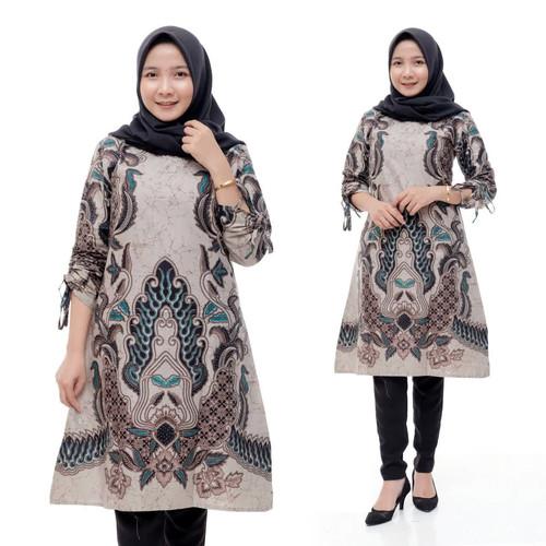 Foto Produk Baju Batik Wanita Tunik Batik Wanita Dress Kantor - M dari Meyda_Batik