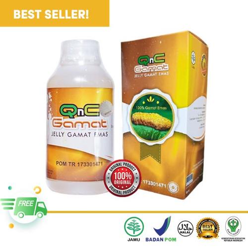 Foto Produk QnC Jeli Gamat Emas Original - GnC Jely Jelly Jelli Bukan Gold G Luxor dari Riswan Herbal Surabaya