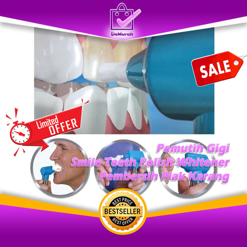 Foto Produk Pemutih Gigi Luma Smile Teeth Polish Whitener Pembersih Plak Karang dari Demurah Dot Com