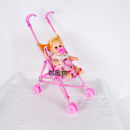 Foto Produk Mainan Anak Stroller Bayi Dorongan Boneka Baby Kereta Dorong Lipat dari Toko DnD