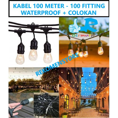 Jual Kabel Fitting Gantung Lampu Outdoor Taman 100 Fitting 100 Meter Deko Jakarta Barat Rekomen Store Tokopedia