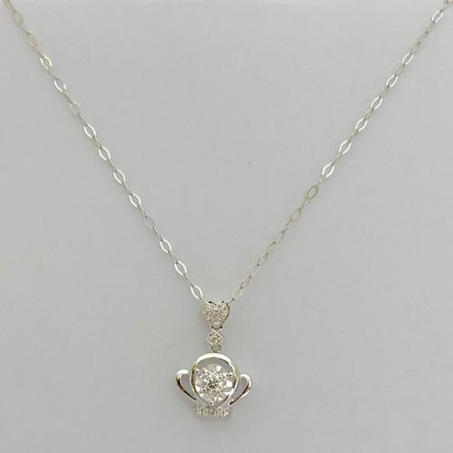Foto Produk Liontin Berlian Model Crown + Kalung IMPD964944 Swan Jewellery - Rose Gold dari Swan Jewellery Online