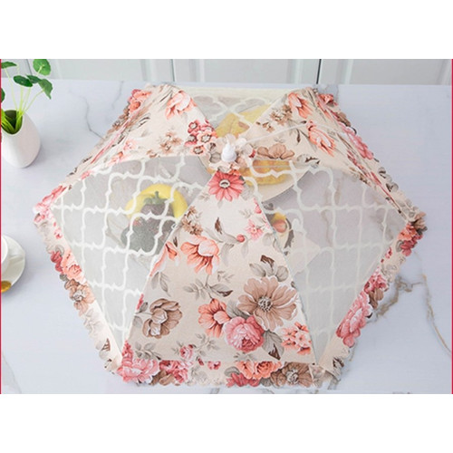 Foto Produk Full Pattern Food Cover Round/Tudung Saji Bulat Shabby Penutup Makanan - New Brown dari summerlilyshop