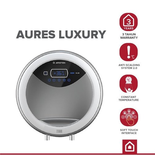 Foto Produk Ariston - Aures Luxury - Electric Instant Water Heater RT24E dari YALE Official Store