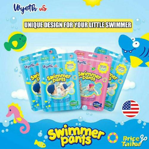 Foto Produk Wyeth Swim Diaper / Popok Berenang / Popok Bayi - M Pink dari Nicole_babynkids
