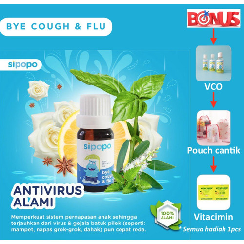 Foto Produk 1 pcs Sipopo Kids Essential Oil - bye cough and flue (100% original) dari annihshop