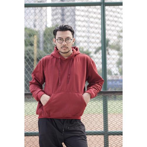 Foto Produk Hoodie Pullover Series (Merah) - L dari Arsenio Apparel Store