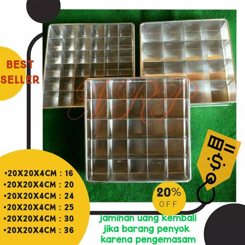 Foto Produk loyang brownies / loyang sekat brownies / loyang brownies sekat 20x20 - sekat saja, 20x20cm 16 skat dari Saghalashop