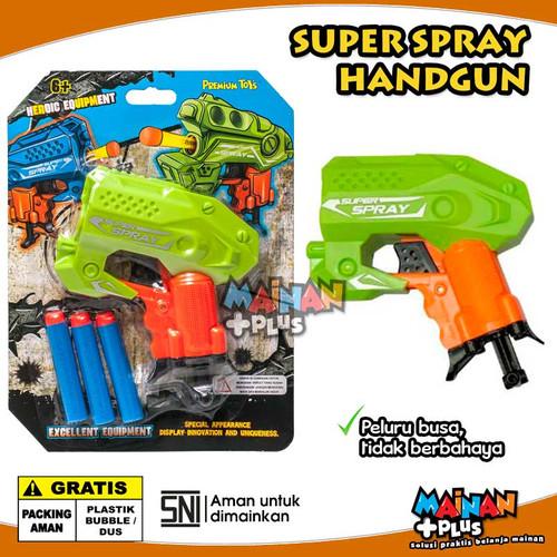 Foto Produk Mainan Anak Laki Laki Pistol Eva Super Spray Soft Bullet Handgun SNI - Hijau dari MainanPlus