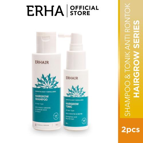 Foto Produk Erha VP Hairgrow Shampoo 100ml & Hair Loss Tonic - Sampo & Tonic Rambu dari Erha Official Store