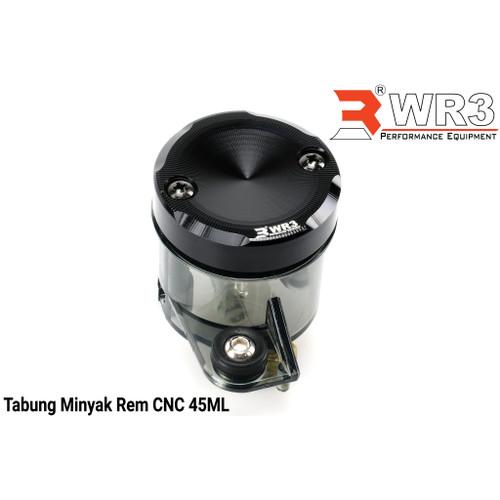 Foto Produk Tabung Minyak Rem Smoke + Tutup Tabung CNC WR3 Universal Xmax / ZX25R - Hitam dari Xtreme Motor Sport