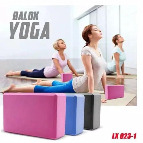 Foto Produk Balok Yoga Yoga Brick Yoga Block Batok Yoga - Abu-abu dari Gudang Olahraga
