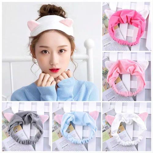 Foto Produk Headband Kuping Kucing/Bandana Kucing/Bandana Masker Bando Kucing K216 - BandoKcingCoklt dari cocomelon99