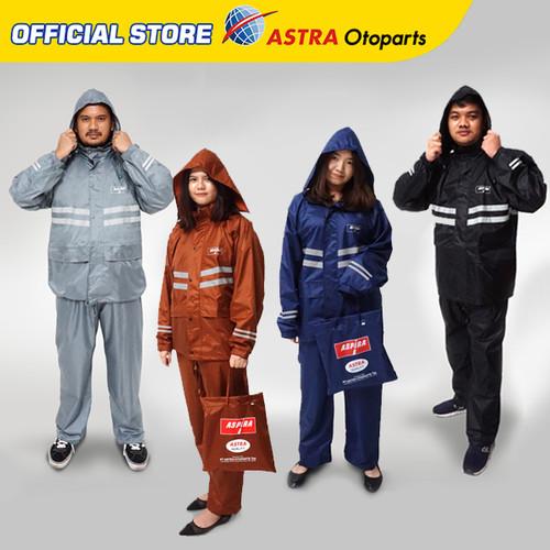 Foto Produk Jas Hujan Premium Aspira ASTRA Original - M, Hitam dari Astra Otoparts