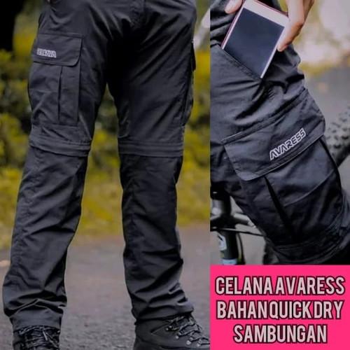 Foto Produk celana sambung celana gunung celana outdoor celana panjang avaress - Hitam, M dari Avares store