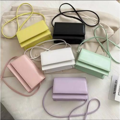 Foto Produk Tas Selempang Wanita CLARISA / Slingbag Simple Terbaru Berkualitas! - Lilac dari QUEEN Fashion69