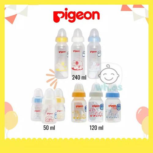 Foto Produk Botol Susu Pigeon Bayi Baru Lahir Newborn 0M 3M 6 M uk 50 120 240 ml - 50ml dari warunghani