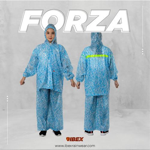 Foto Produk IBEX Jas Hujan Jaket Celana Forza - Abu-abu dari Ibex store
