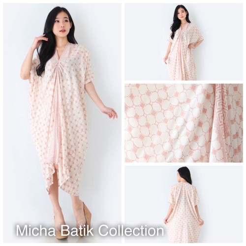 Foto Produk Kaftan batik paris: Kawung tembokan cream dari Micha Batik Collection