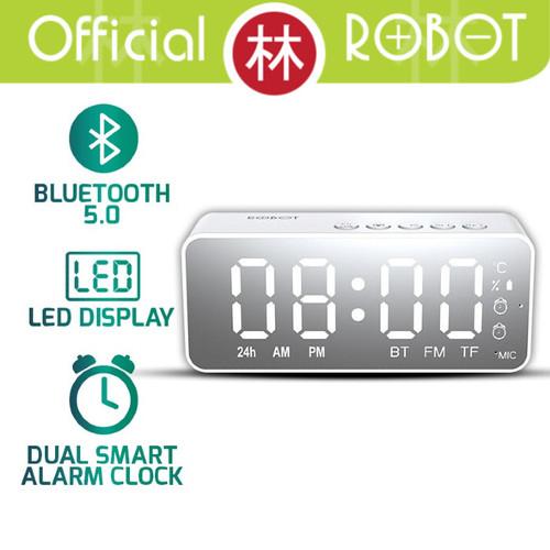 Foto Produk Robot RB150 LED Alarm Clock With FM Radio Speaker Bluetooth - Putih dari Liem