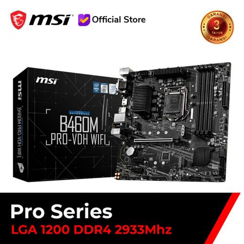 Foto Produk MSI B460M PRO VDH WIFI [mATX   LGA 1200   Gen 10] dari MSI Shop ID