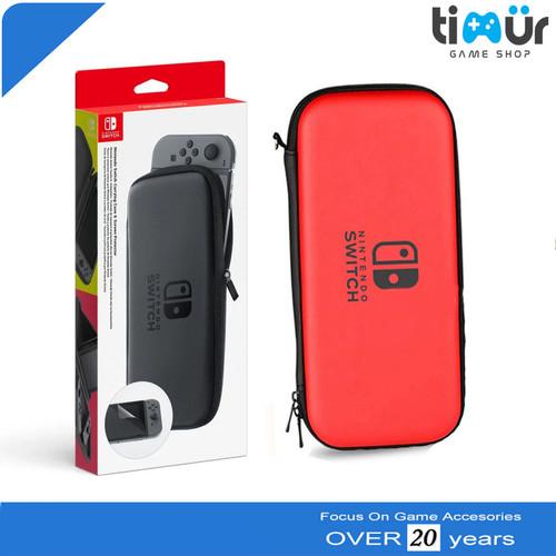 Foto Produk Tas Airfoam Pouch Dompet Pocket Case Travel Bag Nintendo Switch - Merah dari Timur Game Shop
