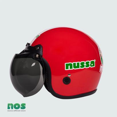 Foto Produk Nussa - X Marzano Arzo Helm Stripe Dewasa - Merah - Merah, L dari Nussa Official