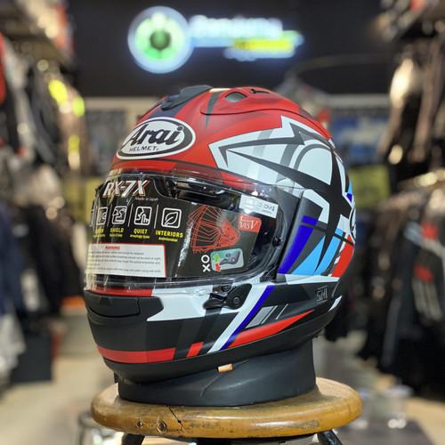 Foto Produk Helm Motor Full Face Arai Rx7x Takumi Frost Arai Japan Rx-7x SNI dari BANDUNG APPARELS