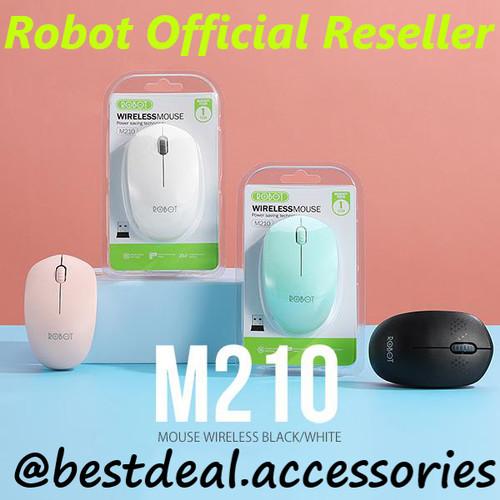 Foto Produk Robot M210 Mouse Wireless 2.4G Optical USB Mouse Original Promo - Hitam dari bestdeal official