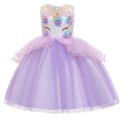 Foto Produk Dress pesta unicorn anak 3 -10 tahun gaun pesta unicorn anak - D PURPLE, 110 dari mamasilo