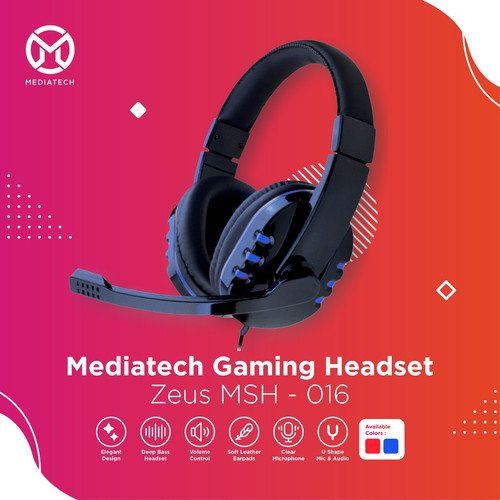 Foto Produk Mediatech Gaming Headset / Headphone Zeus MSH 016 - Biru dari Mediatech Official Store