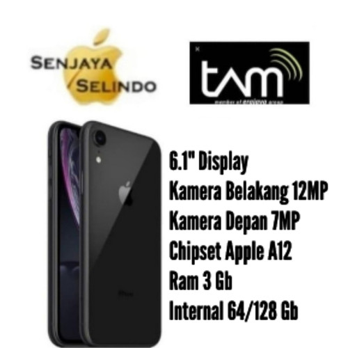 Foto Produk Apple Iphone XR 64Gb/128Gb Garansi Resmi Tam/Ibox - Putih, 64 gb dari Senjaya Selindo