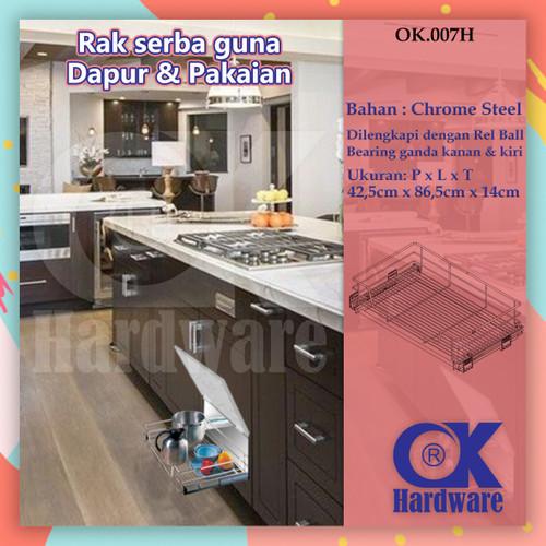 Foto Produk Rak Tarik Piring Panci Mangkok OK 007 H 90 cm for Kitchen Set Kabinet dari WINSTON SUKSES ABADI