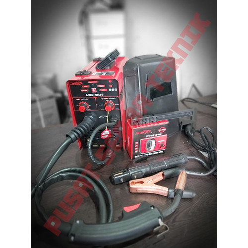 Foto Produk Las Mig Mesin Las Mig 120T Redbo + Kawat Flux 1KG dari PUSAT SERBA TEKNIK