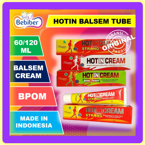 Foto Produk Hotin Cream Tube 120ml / Hot in Krim Pegal Nyeri Otot / BEBIBER - Tube Ori 120ml dari tokobebiber
