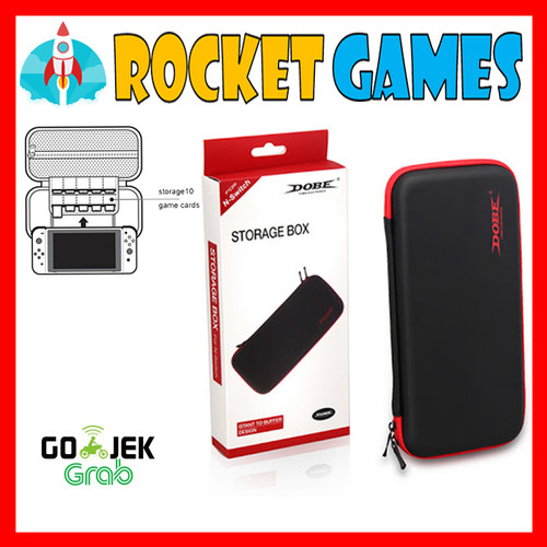 Foto Produk NINTENDO SWITCH DOBE STORAGE BOX (BLACK LIST RED) POUCH TNS858 dari Rocket games