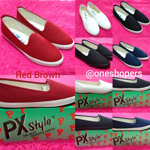 Foto Produk Sepatu Kanvas PX Style (098-Varians Colour) - Red Brown, 38 dari One Shopers